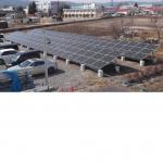 太陽光パネル 発電中