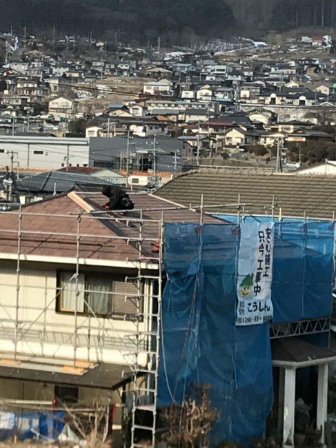 こうしん:岡谷:屋根工事:作業風景