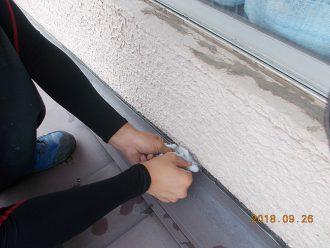 外壁のヒビ割れ施工