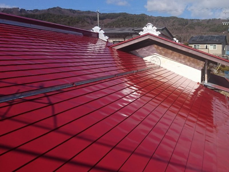 茅野市屋根塗装 マーズレッド