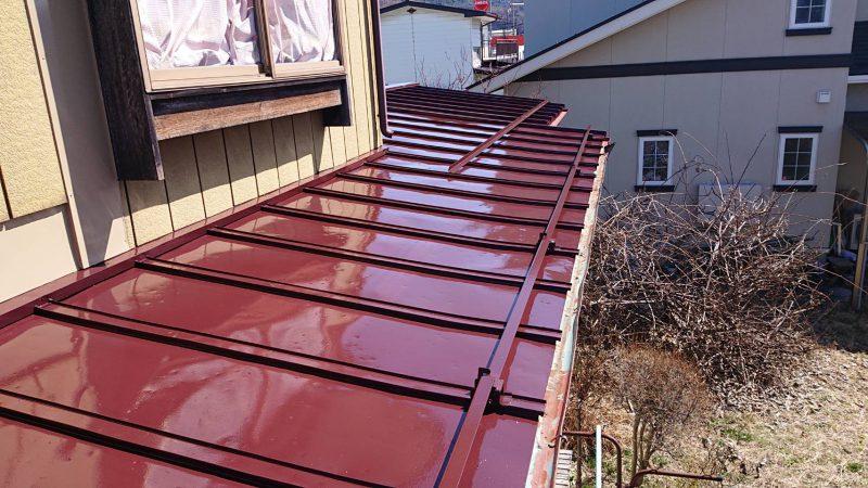 諏訪市 屋根塗装 工事後